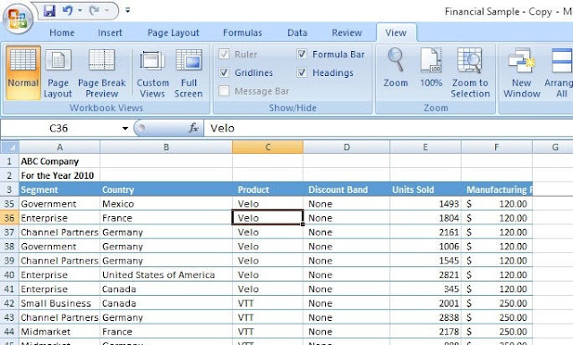 How to freeze a row in excel