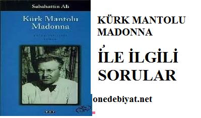 Kürk Mantolu Madonna Ile Ilgili Sorular Ve Cevaplar 10sınıf Türk