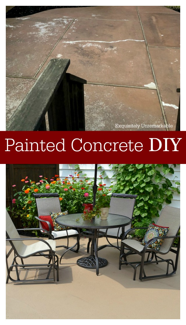 Painted Concrete DIY