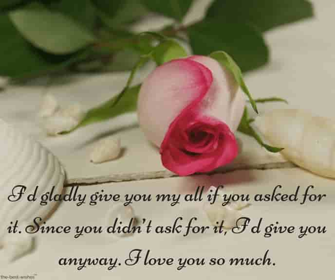 heart touching good morning text for her with rose