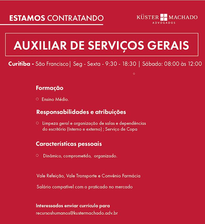 Auxiliar de Serviços Gerais, Curitiba, PR