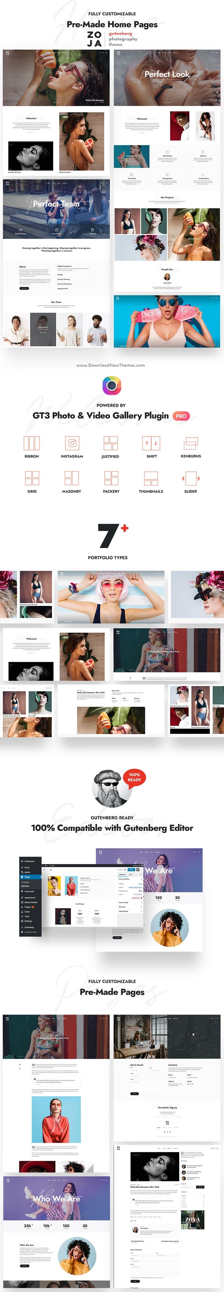 Zoja - Photography WordPress Theme