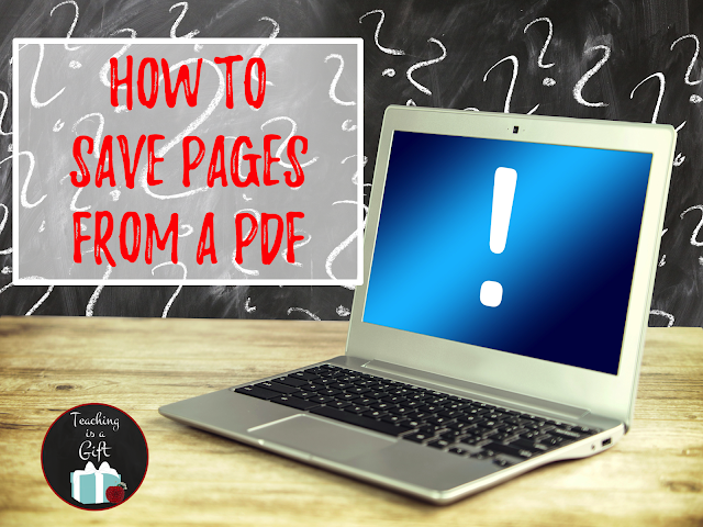 PICTURE OF HOW TO SAVE PAGES FROM A PDF