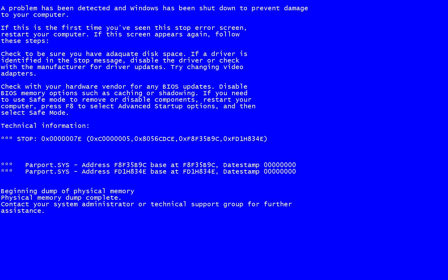Blue Screen Of Death Tech Domain