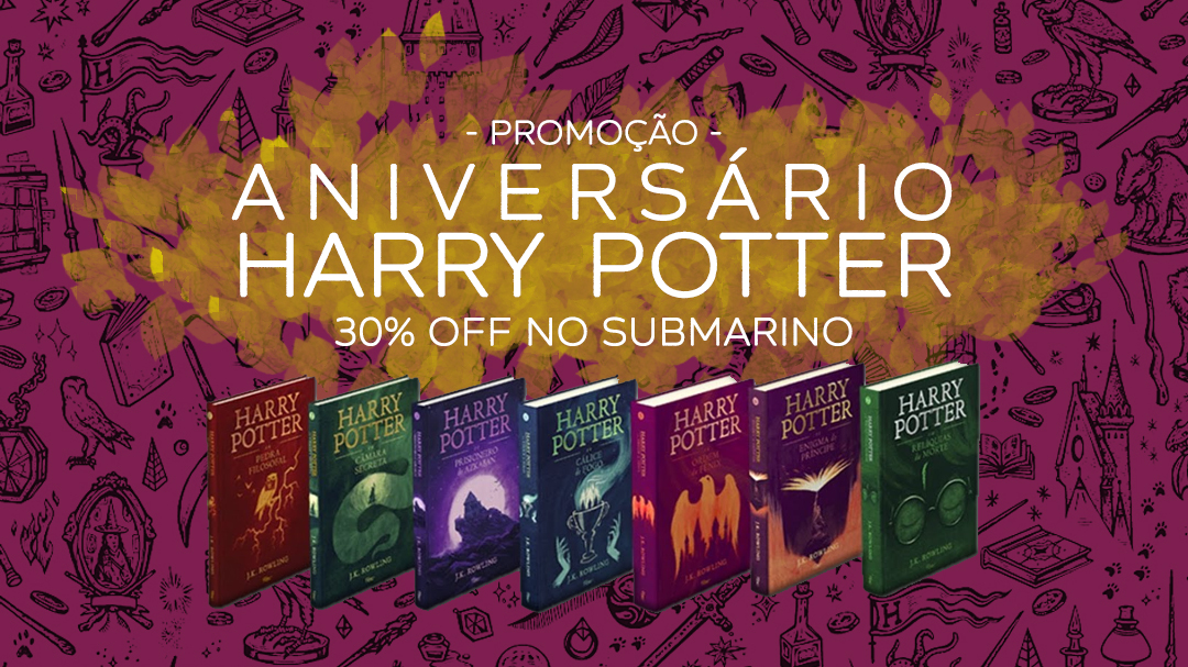 aniversario harry potter livros com 30 off no submarino elfo livre aniversario harry potter livros com 30