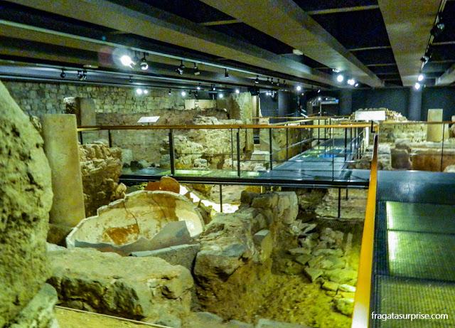 Vestígios de Barcino, a Barcelona Romana, no Museu de História de Barcelona