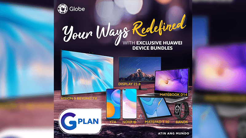 Globe announces GPlan bundles with Huawei devices including the MatePad T10 and nova 8i
