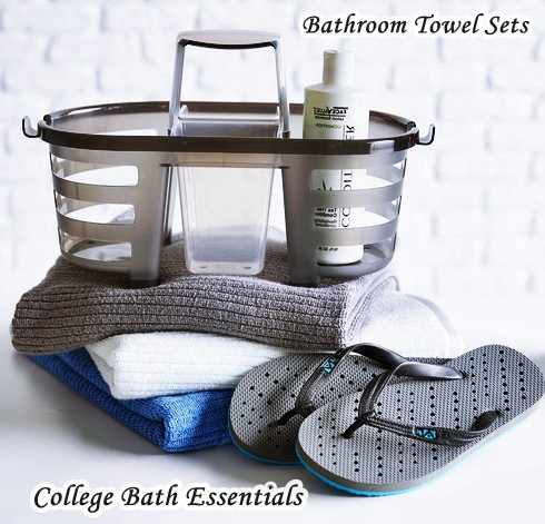 Bathroom Rug And Towel Sets - College Bath Essentials