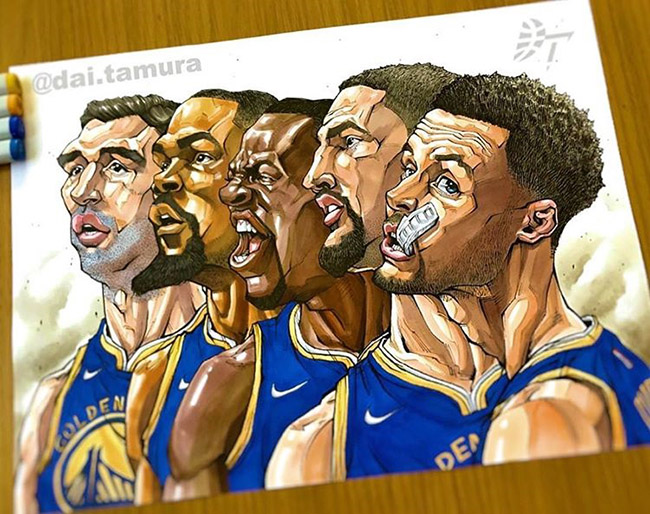 Dai Tamura - #YellowMenace Basketball Art Collection