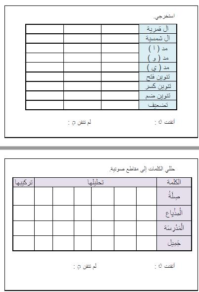 مذكرة لغتي الجميلة وفق المنهج الجديد للصف الثاني الإبتدائي للفصل الدراسي الأول