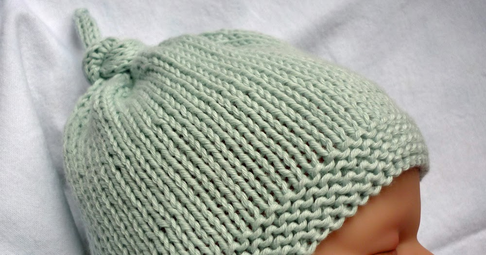 Mack And Mabel Free Knitting Pattern Baby Hat With Top Knot