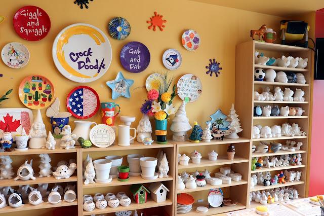 Crock a Doodle pottery painting studio