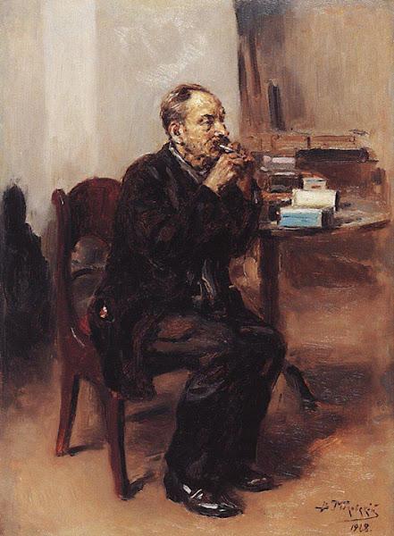 Маковский Владимир Егорович - Дегустатор табака. 1918