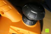 Hobel vorne: Defort DEP-900-R Elektrohobel 900 W, Falzfunktion, Spanauswurfsystem