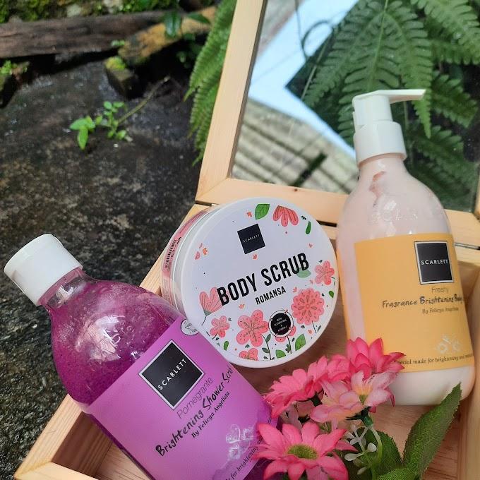 REVIEW: Body Care Scarlett Whitening (Body Scrub, Brightening Shower Scrub, and Fragrance Brightening Body Lotion)