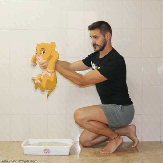 Disney Characters In His Daily Life With Humor