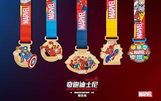 Shanghai Disneyland Disney Inspiration Run 2019 médailles