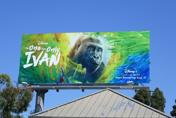One and Only Ivan movie billboard