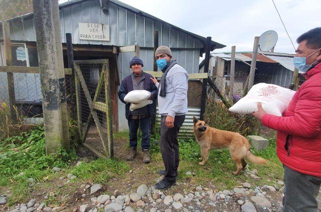 Unión empresarial y laboral aporta 5.000 kilos de harina para vecinos del sur