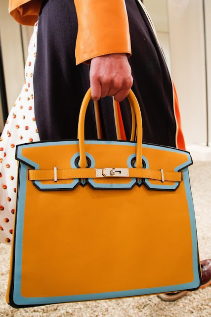 Hermes Handbag in Orange Color