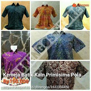 Kemeja Batik Pria Primisima Pola Sanggit dbrengos Store