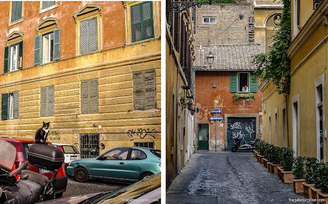 Ruas do bairro do Trastevere, Roma