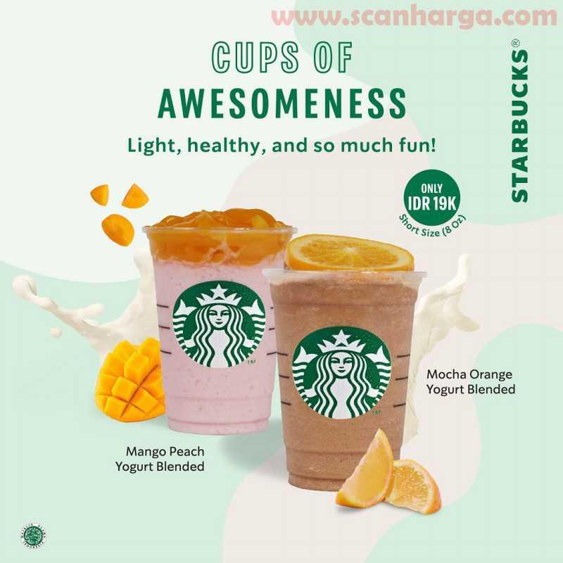 Promo Starbuks Harga Spesial Yogurt Mocha Orange - Mango Peach Hanya Rp 19RB!