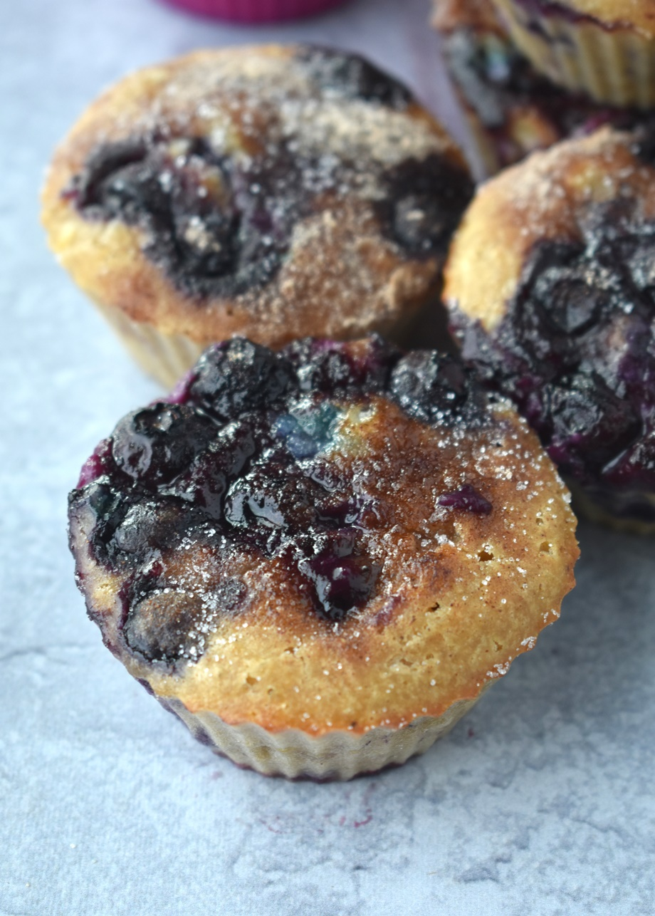 blueberry muffin loaded with blueberries