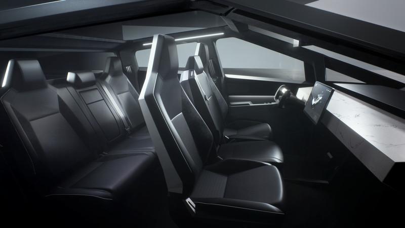 Interior Cybertruck Tesla - Truck Listrik Pertama Di Dunia