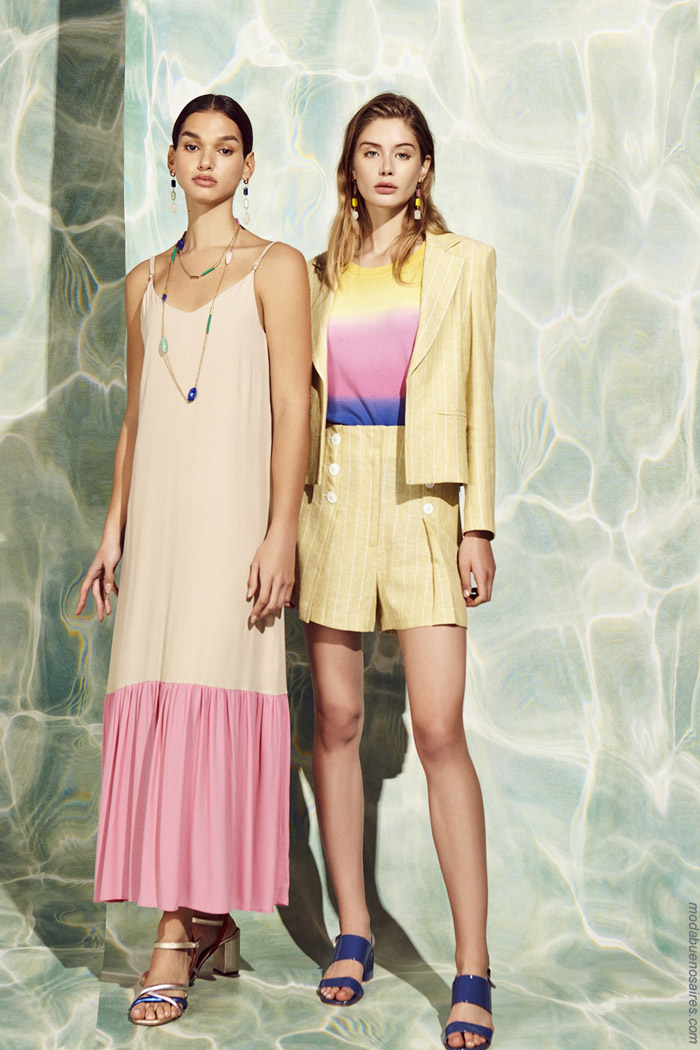 Vestidos largos de moda verano 2020, trajes de mujer verano 2020. Moda mujer 2020.