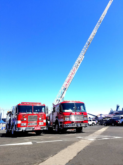 LA Fleet Week 2019 LA Waterfront San Pedro Port of Los Angeles, California Fire Trucks Los Angeles Fire Department E285