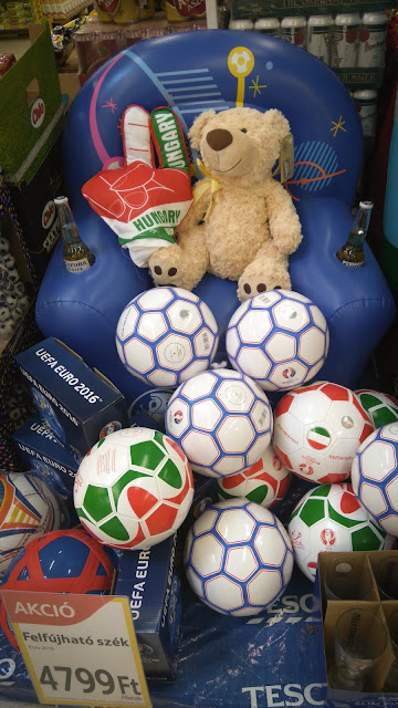 Shopping in Hungary and football fever