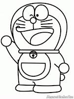 Lembar Mewarnai Gambar Kartun Doraemon