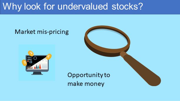 Why look for undervalued stocks?