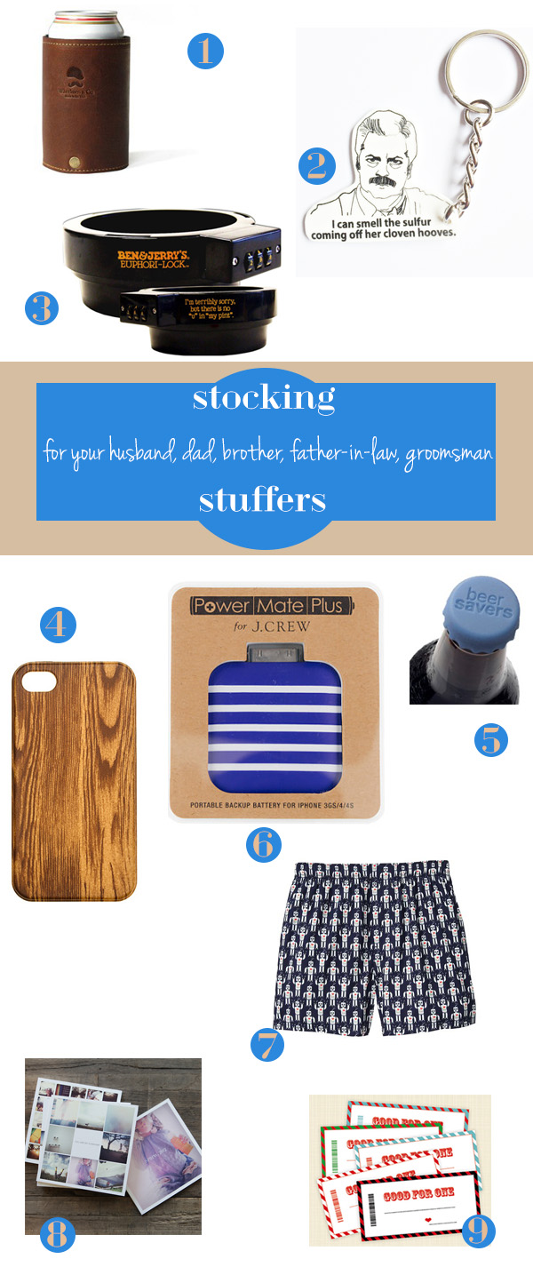 stocking stuffer gift guide for him from oh lovely day