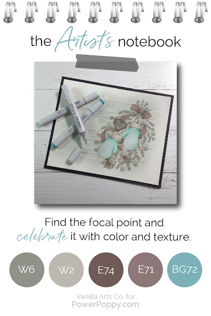 Want to improve your Copic Marker or colored pencil coloring? Power Poppy's guest author Amy Shulke from VanillaArts.com talks about how to begin adding texture and realism to your projects. | VanillaArts.com | #realistic #howtocolor #copic