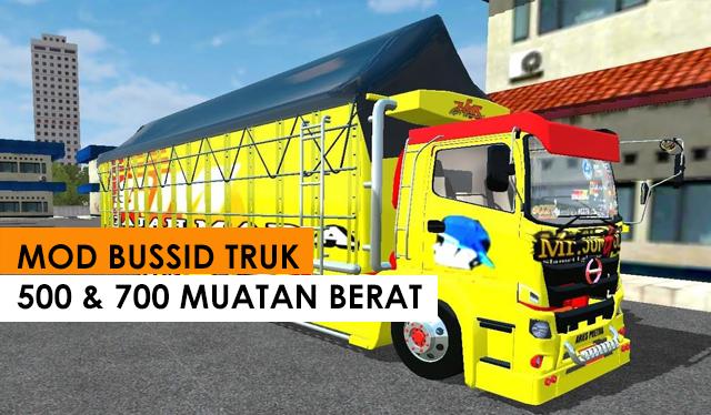 Download Mod Bussid Truck Hino 500 & 700 Muatan Berat