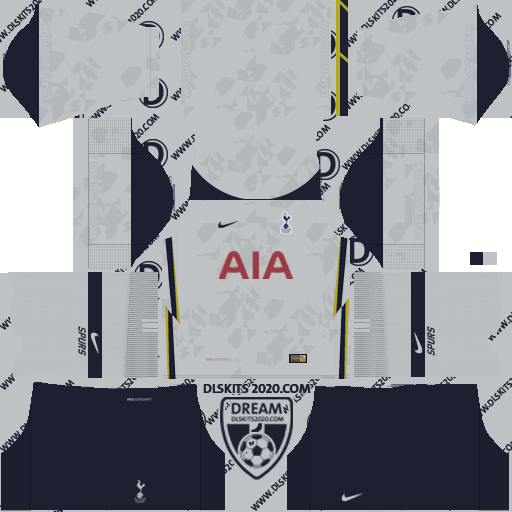 Tottenham Hotspur Kits 2020-2021 Nike For Dream League Soccer 2019 (Home)