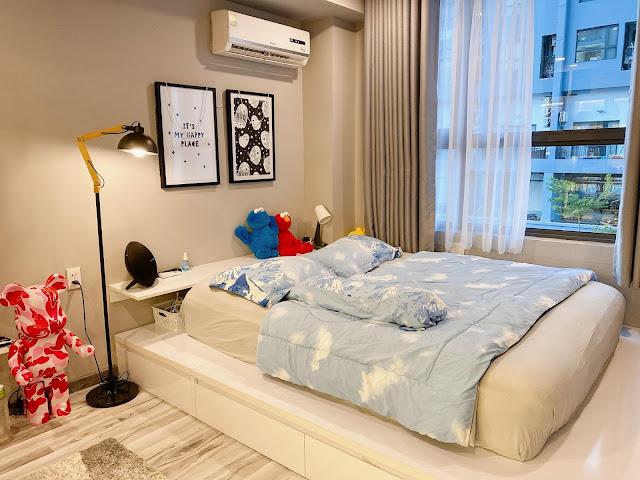 Ảnh thực tế nội thất căn hộ M-One Nam Sài Gòn 1 phòng ngủ.
