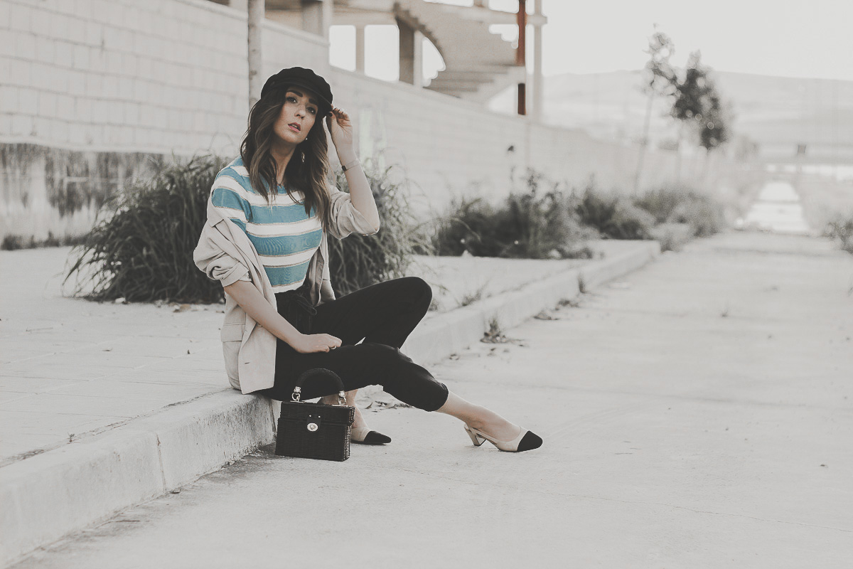 light blue stripes sweater