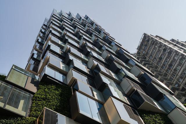 Khách sạn mang hình khối zig-zag ở Hong Kong