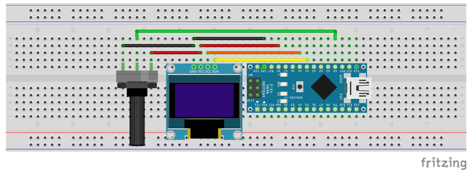 Arduino er display waveform on mini oled with nano