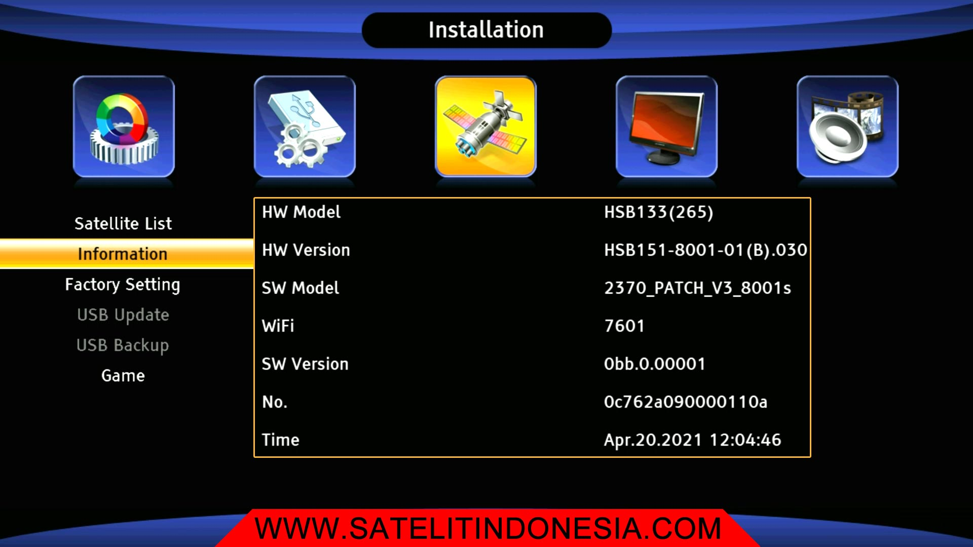 HSB133 Software Download Firmware Sat Receiver New Update