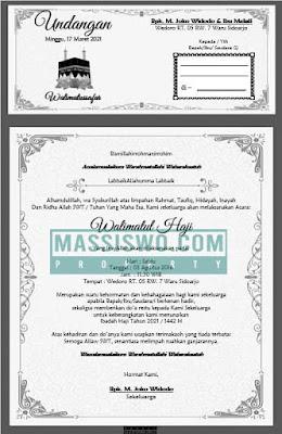 contoh undangan walimatussafar haji