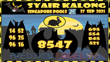 Syair Kalong Togel Singapura Senin 27-09-2021