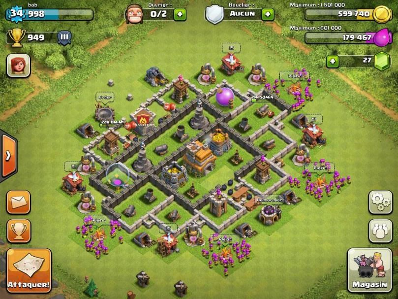 clash of clans base th 7