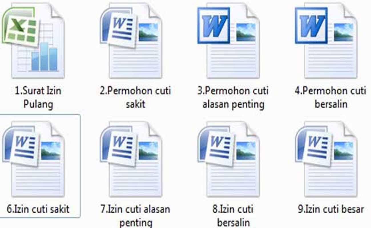 Download Contoh File Surat Izin Cuti Mengajar