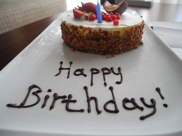 happy birthday image cake and flowers