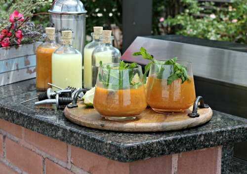 Bourbon Peach Fizz Cocktails