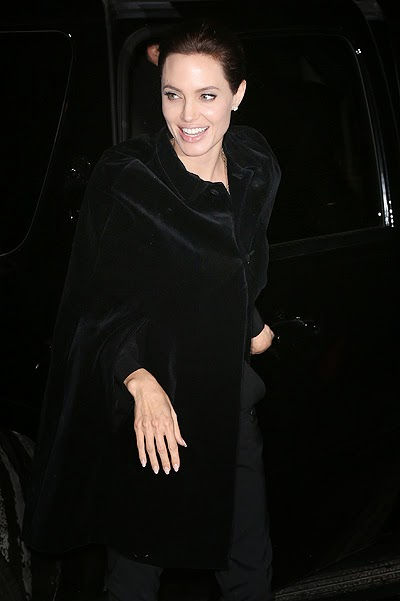 Angelina Jolie after the accident